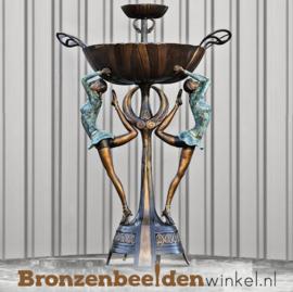Bronzen fontein met klassieke danseressen BBW8005