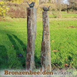 Tuinbeeld vogels op sokkels BBW80012