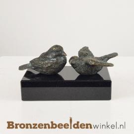 Twee vogelbeeldjes in licht abstracte vorm BBW18653br