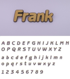 Losse letters Frank