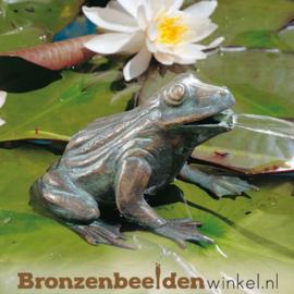 Kikker fontein beeld brons BBWR90110