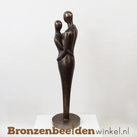"""Bronzen huwelijk kado """"Ideaal Koppel"""" BBW0636br"""
