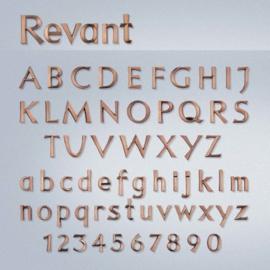 Bronzen letters Revant