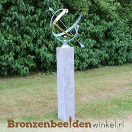 NR 2 | Origineel cadeau bruiloft vrienden ''Bronzen zonnewijzer'' BBW0028br