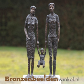 "Bronzen tuinbeeld ""Happy Family"" BBW0932"
