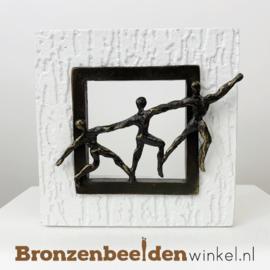 """Wanddecoratie brons """"Samengaan"""" BBW005br29"""