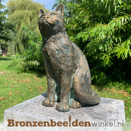 Bronzen beeld kat BBWR89058