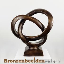 "NR  5 | 70 jaar getrouwd cadeau ""Abstracte Trouwringen"" BBW91234br"