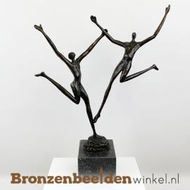 """Bronzen Sculptuur """"Geluk"""" BBW004br20"""