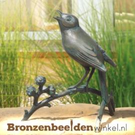 Bronzen nachtegaal beeld BBW37045
