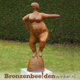 """Bronzen tuinbeeld """"Oranje Dikke Dame"""" BBWB58780"""