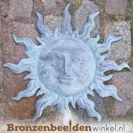 Bronzen zon beeld muur BBW0567BR