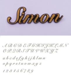 Bronskleurige letters Simon