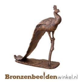 Bronzen pauw beeld BBW87240