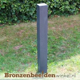 Granieten natuursteen sokkel 95x10x10 cm - gezoet