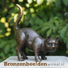 Bronzen beeld kat BBW2127br