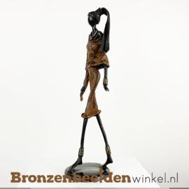 """Afrikaans beeld """"Flatteus"""" 35 cm BBW009br27"""
