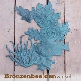 """Wanddeco brons """"Vis met koraal"""" BBW1082BR"""