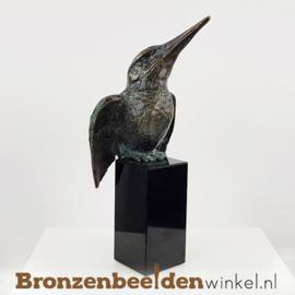 IJsvogel beeldje brons BBWR88321 op sokkel