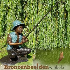 Bronzen vissende jongen BBW50608br