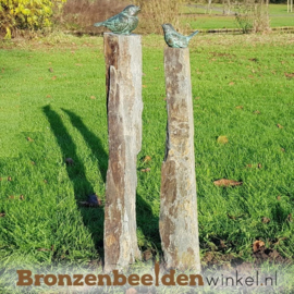 Tuinbeeld vogels op sokkels BBW80011