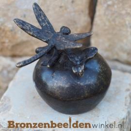 Bronzen asbeeldje met libelle BBW0419BR