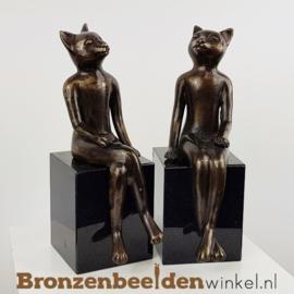 """Katten beeldjes """"De Stijlvolle Poezen"""" BBW1849br"""