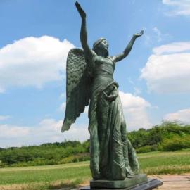 Tuinbeeld engel brons BBW0094br