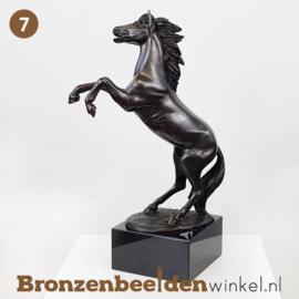 NR 7 | Cadeau man 55 jaar ''Steigerend paardenbeeldje'' BBW1100br