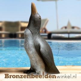 Zwembad beeld pinguïn brons BBW37178
