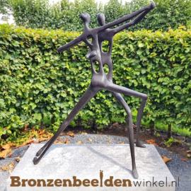 """Bronzen """"Abstract Danspaar"""" tuinbeeld BBW52846br"""