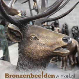 Bronzen hert voor in de tuin BBW955