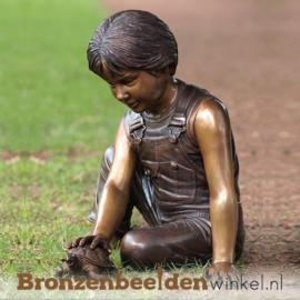 Bronzen jongen met schildpad BBW1074br