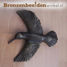 "Wanddecoratie brons ""Colibri"" BBW0202br"