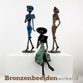 """Afrikaans kunst """"Set 3 st. (2xM-1xZ)""""  BBW009br60"""