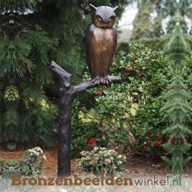 Bronzen tuinbeeld uil BBW94545