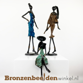 "Afrikaans kunst ""Set 3 st. (2xL-1xZ)""  BBW009br53"
