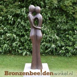 Bronzen liefdespaar tuinbeeld BBW0718br