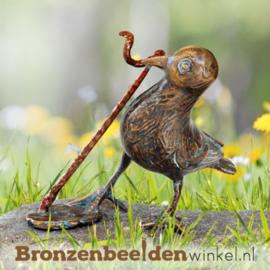 Bronzen merel beeld BBW37181