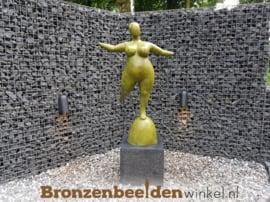 "Bronzen tuinbeeld ""Dikke Dame"" BBW91100"