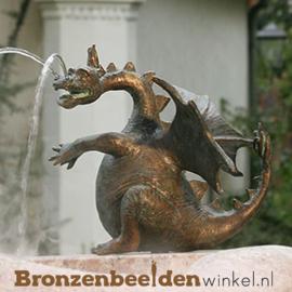 """Bronzen draken beeld """"Zwelgje"""" BBWR88753"""