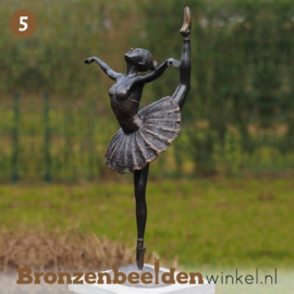 NR 5 | Cadeau vrouw 70 jaar ''Bronzen ballerina'' BBW2219