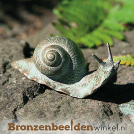 Beeld slak in brons BBW37032