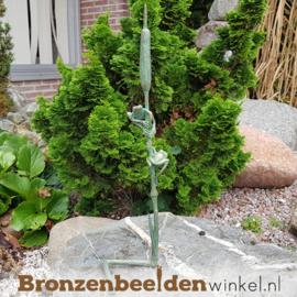 Bronzen kikkers op rietstengel BBW37284