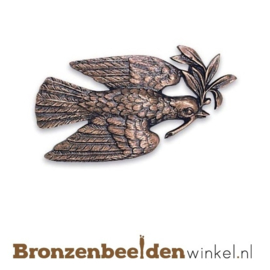 Bronzen vredesduif beeld BBW09070