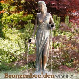 """Bronzen fontein """"Petronella met twee kruiken"""" BBWR88445"""