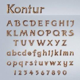 Losse letters Kontur