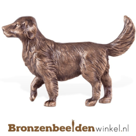Hondenbeeldje Golden Retriever brons BBW85405