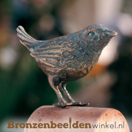 Beeld winterkoninkje in brons BBWR88422