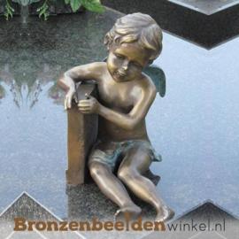Bronzen grafsteen engel BBW1274br